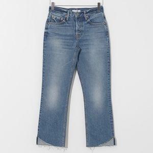 GRLFRND Jeans Tatum In True Blue Raw Hem Size 31